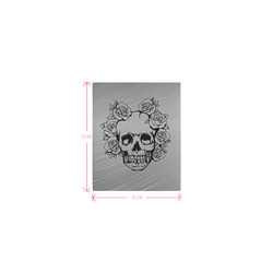 skull with roses Logo for Men&Kids Clothes (4cm X 5cm)