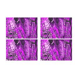 Purple Dream Place Mats Four Pack Placemat 12'' x 18'' (Four Pieces)