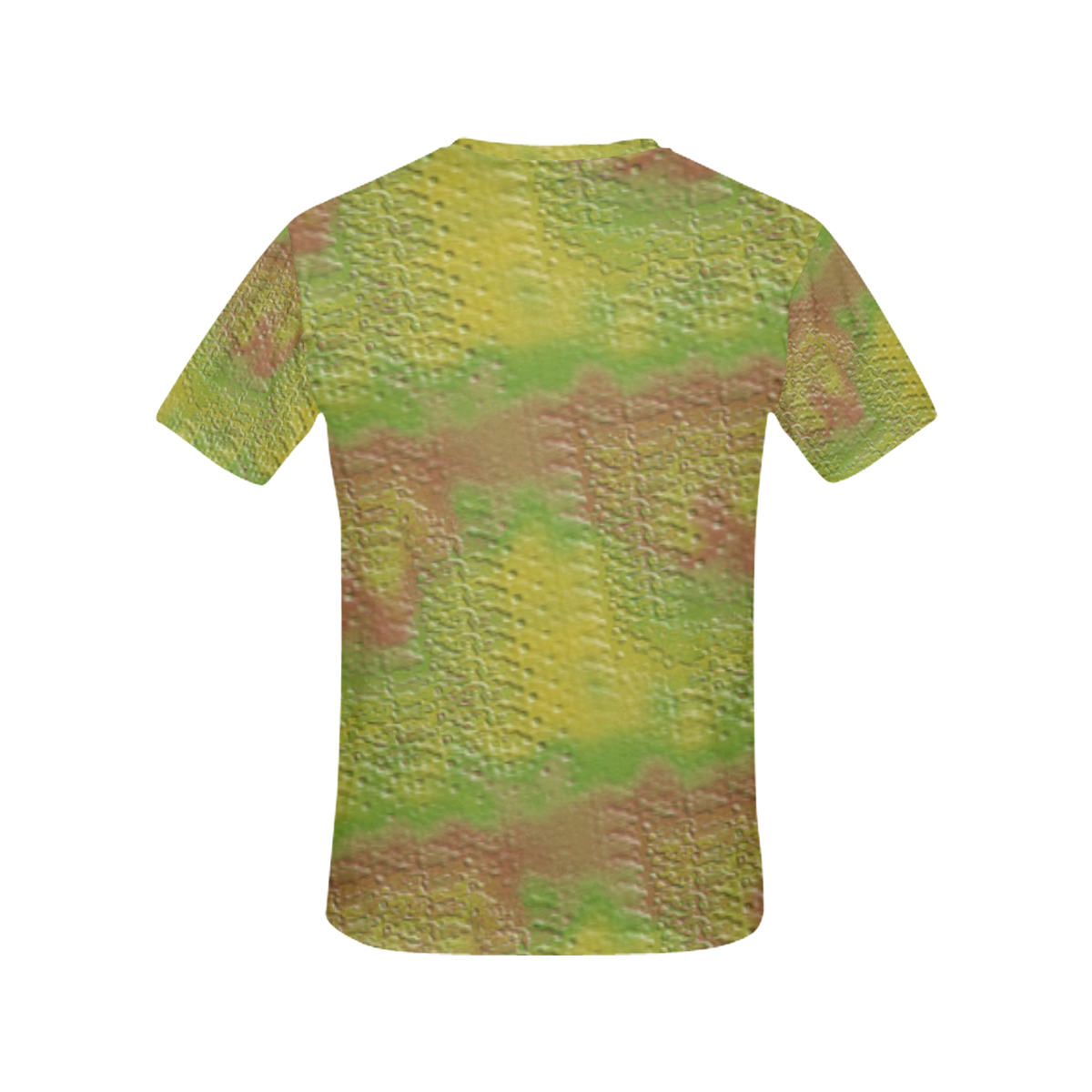 Swamp Green Textured Stone All Over Print T-Shirt for Women (USA Size) (Model T40)