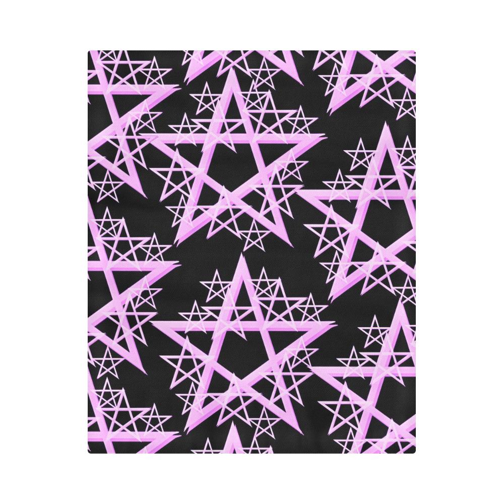 """Purple Pentacle Duvet Cover Duvet Cover 86""""x70"""" ( All-over-print)"""