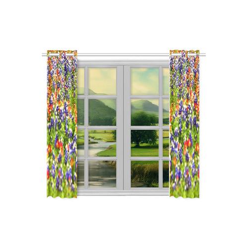 "Bluebonnett Kitchen Curtain Kitchen Curtain 26"" X 39"" (Two Piece)"