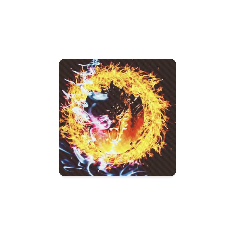 Dragon Flame Coaster Square Coaster