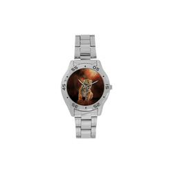 Cute little tiger Men's Stainless Steel Analog Watch(Model 108)