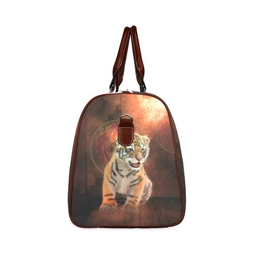 Cute little tiger Waterproof Travel Bag/Small (Model 1639)