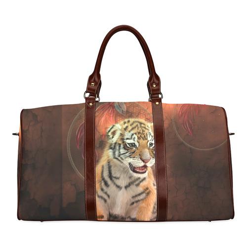 Cute little tiger Waterproof Travel Bag/Large (Model 1639)