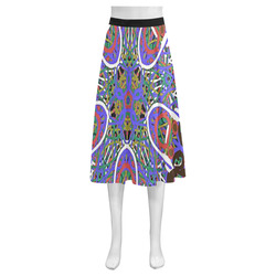 Thleudron Women's Happy Mnemosyne Women's Crepe Skirt (Model D16)