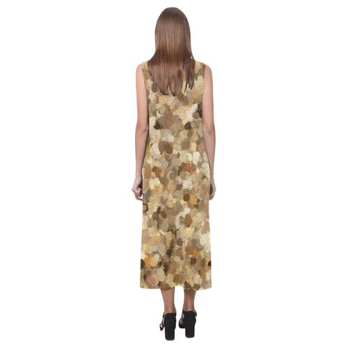 Shades of Brown Judiciary Rocks 1293 Phaedra Sleeveless Open Fork Long Dress (Model D08)