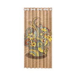 "for coffee lovers New Window Curtain 50"" x 108""(One Piece)"