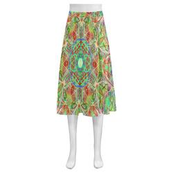 Thleudron Women's Constellations Mnemosyne Women's Crepe Skirt (Model D16)