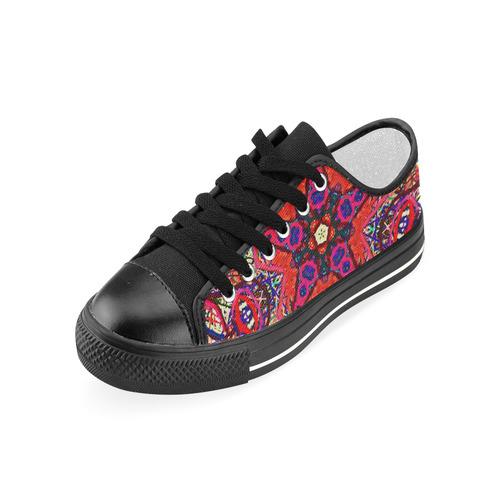 Thleudron Women's Mermaids Women's Classic Canvas Shoes (Model 018)