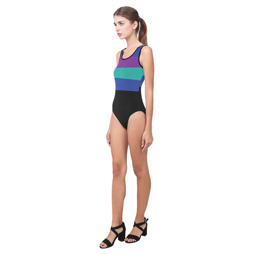 Simplicity Vest One Piece Swimsuit (Model S04)