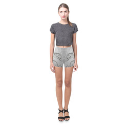The crow with roses Briseis Skinny Shorts (Model L04)