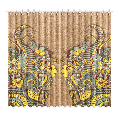 """for coffee lovers Window Curtain 52""""x96""""(Two Piece)"""