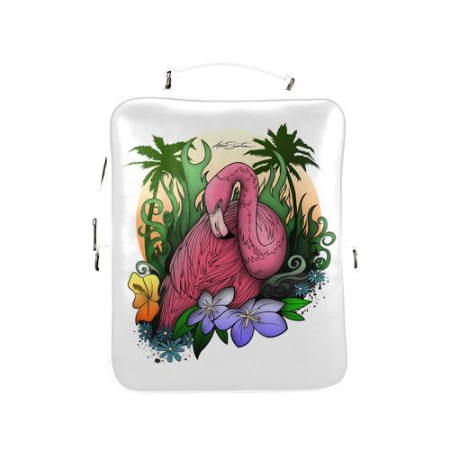 Flamingo Square Backpack (Model 1618)