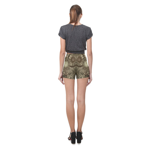 Awesome steampunk design Briseis Skinny Shorts (Model L04)