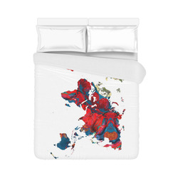 """map of the world Duvet Cover 86""""x70"""" ( All-over-print)"""