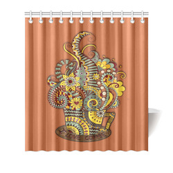 "I love coffee Shower Curtain 66""x72"""