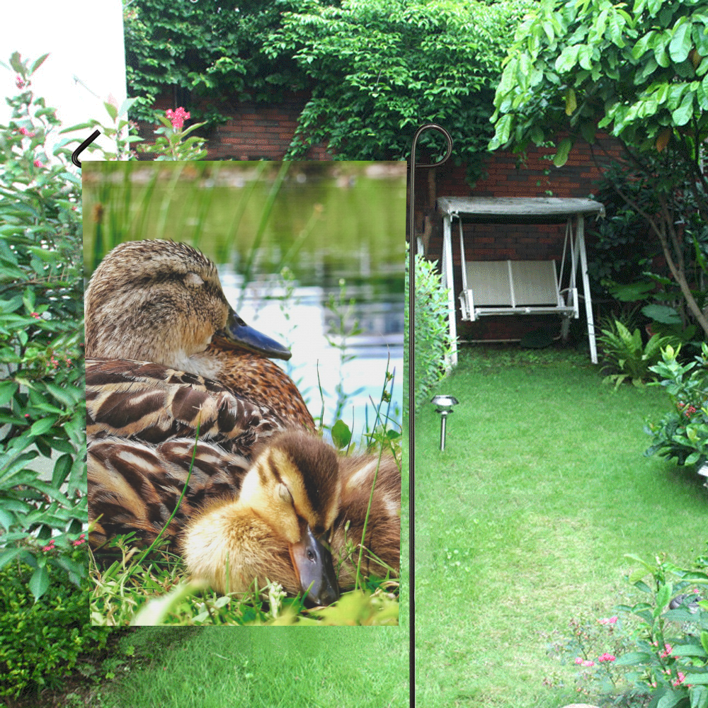 Sleeping Duckling Flag Garden Flag 12''x18''(Without Flagpole)