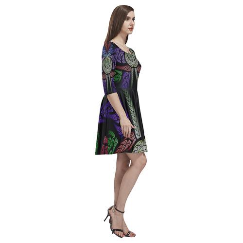 Concord Tethys Half-Sleeve Skater Dress(Model D20)