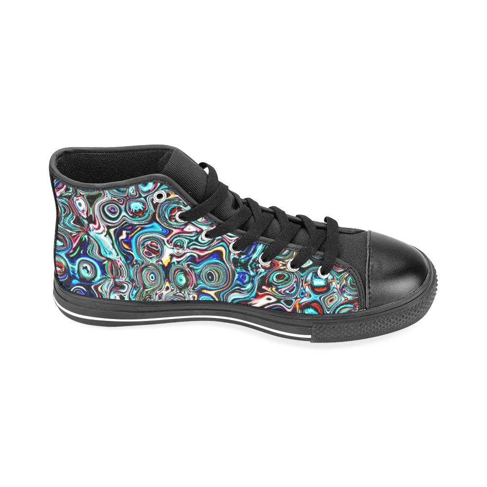 VanGogh Swirl - Jera Nour Men's Classic High Top Canvas Shoes /Large Size (Model 017)