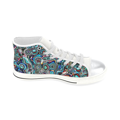 VanGogh Swirl - Jera Nour High Top Canvas Women's Shoes/Large Size (Model 017)