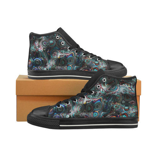 VanGogh Fur - Jera Nour Men's Classic High Top Canvas Shoes (Model 017)