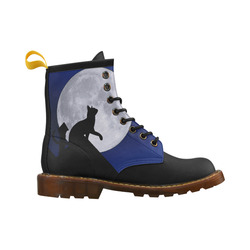 Moon Cat High Grade PU Leather Martin Boots For Women Model 402H