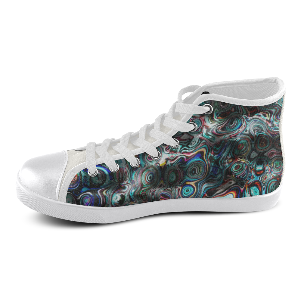 VanGogh Fur - Jera Nour Men's High Top Canvas Shoes (Model 002)