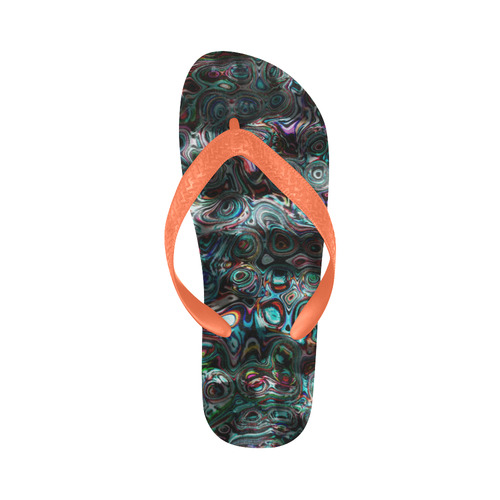 VanGogh Fur - Jera Nour Flip Flops for Men/Women (Model 040)