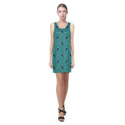 unicorn pattern aqua by JamColors Helen Sleeveless Dress (Model D10)