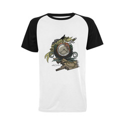 End Of Time Men's Raglan T-shirt Big Size (USA Size) (Model T11)