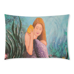 Mermaid Under The Sea Custom Rectangle Pillow Case 20x30 (One Side)