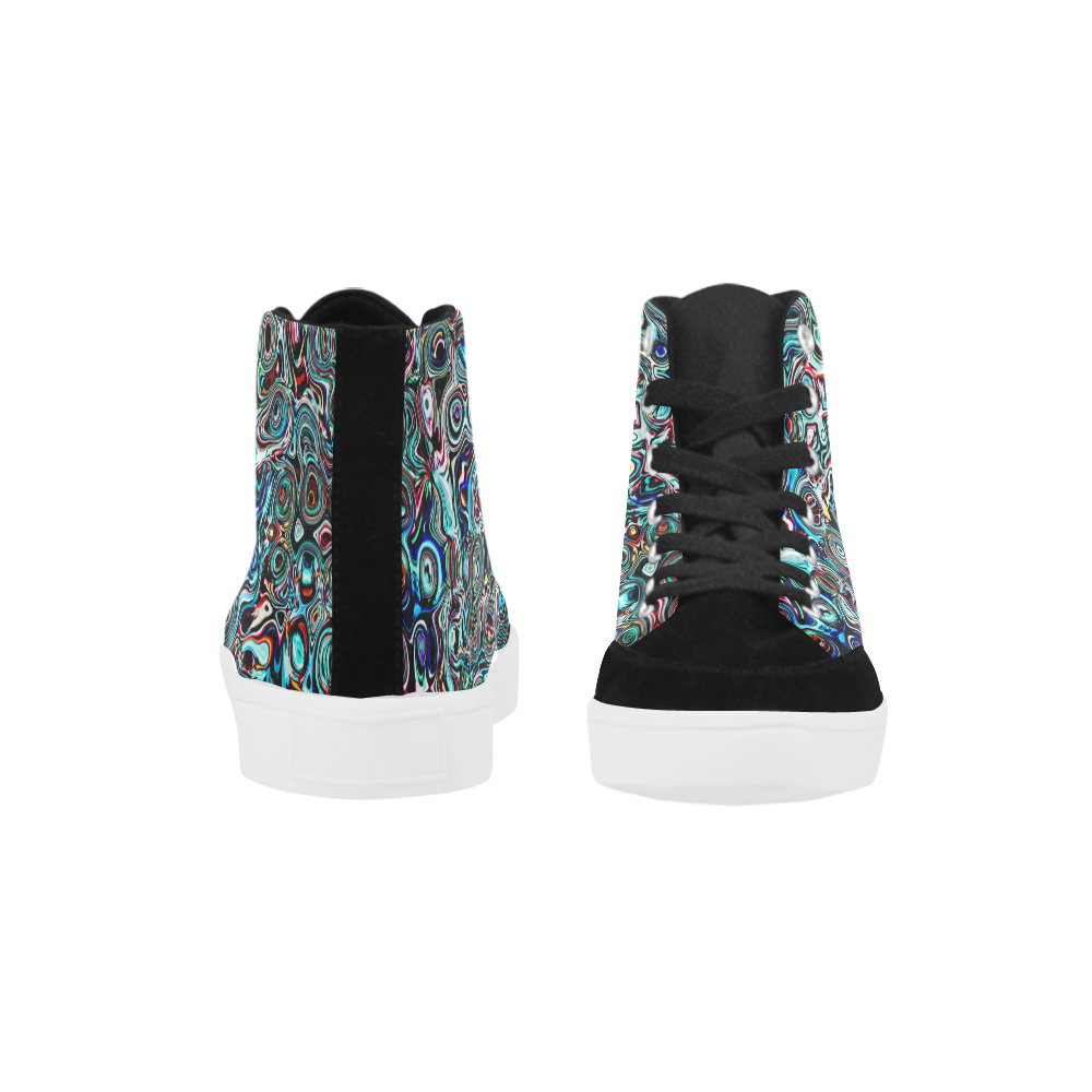 VanGogh Swirl - Jera Nour Herdsman High Top Shoes for Men (Model 038)