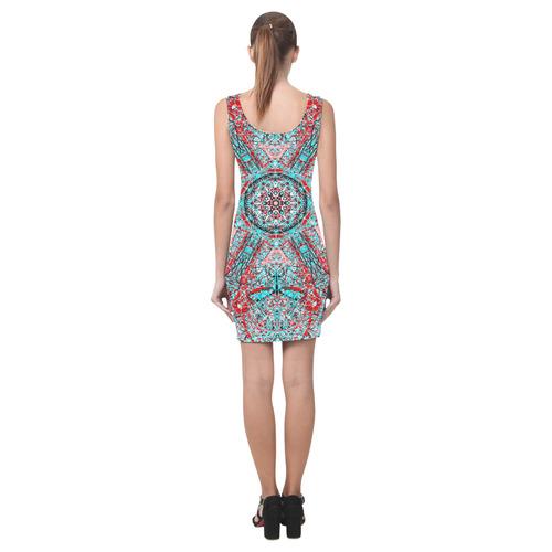 Thleudron Women's Milky Way Medea Vest Dress (Model D06)