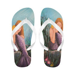 Mermaid Under The Sea Flip Flops for Men/Women (Model 040)