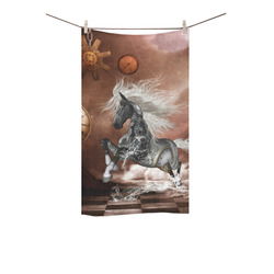 "Amazing steampunk horse, silver Custom Towel 16""x28"""