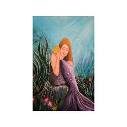 "Mermaid Under The Sea Poster 11""x17"""