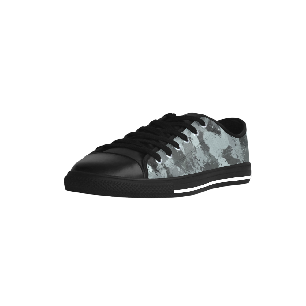Black and Pastel Blue 3216 Aquila Microfiber Leather Women's Shoes (Model 028)
