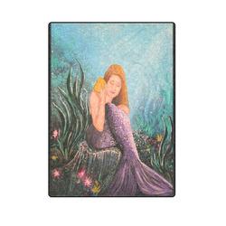 """Mermaid Under The Sea Blanket 58""""x80"""""""