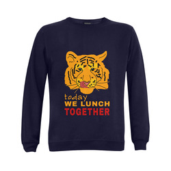 Funny Wild Tiger Today We Lunch Together Romantic Gildan Crewneck Sweatshirt(NEW) (Model H01)