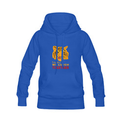 Funny Wild Tiger Today We Lunch Together Romantic Women's Classic Hoodies (Model H07)