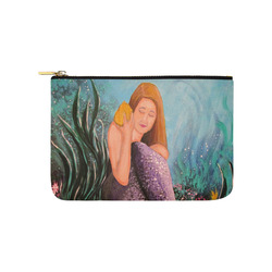 Mermaid Under The Sea Carry-All Pouch 9.5''x6''