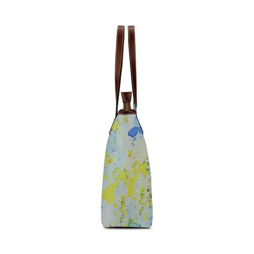 Watercolors splashes Shoulder Tote Bag (Model 1646)