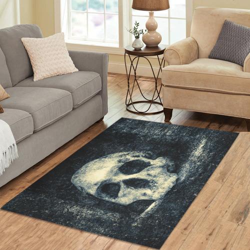 Man Skull In A Savage Temple Halloween Horror Area Rug 5'3''x4'