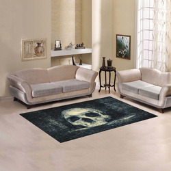 Man Skull In A Savage Temple Halloween Horror Area Rug 5'x3'3''