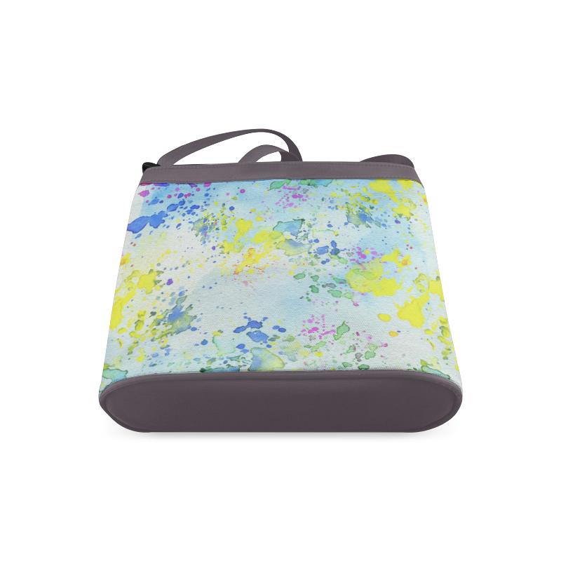 Watercolors splashes Crossbody Bags (Model 1613)