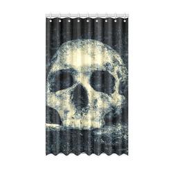 "Man Skull In A Savage Temple Halloween Horror Window Curtain 50"" x 84""(One Piece)"