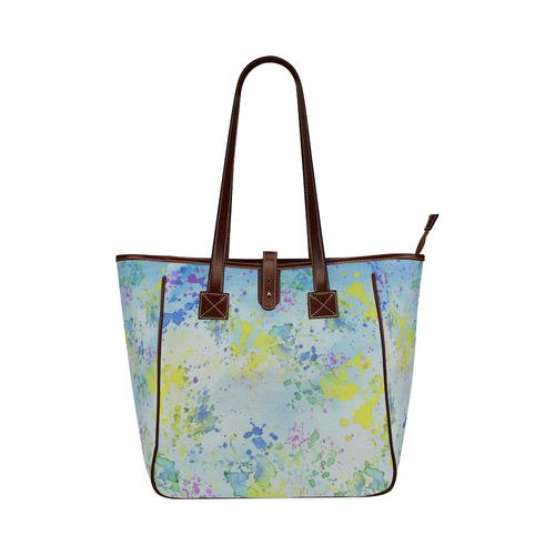 Watercolors splashes Classic Tote Bag (Model 1644)