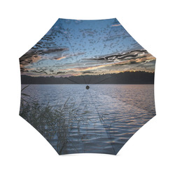 travel to sunset 05 by JamColors Foldable Umbrella (Model U01)