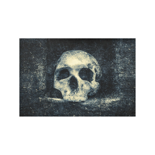 Man Skull In A Savage Temple Halloween Horror Placemat 12'' x 18'' (Four Pieces)